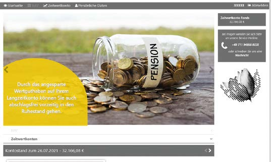 Modernes WEB-design für Arbeitgeber und Arbeitnehmer